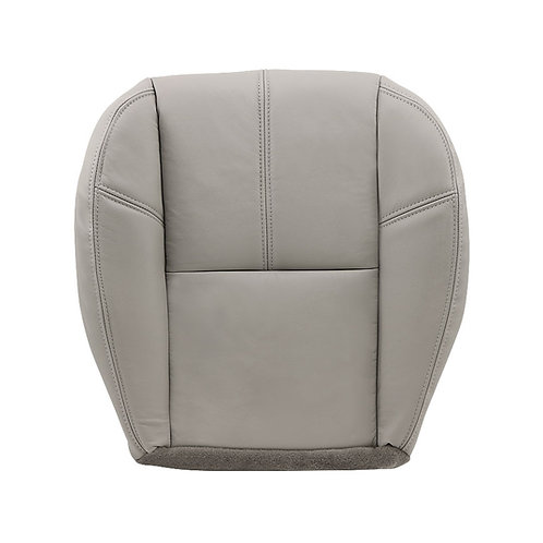 2007 to 2012 Chevy Silverado Driver Bottom Leather Seat Cover Gray