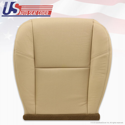 2007 2008 Cadillac Escalade Driver Bottom Perforated Leather Seat Cover Tan
