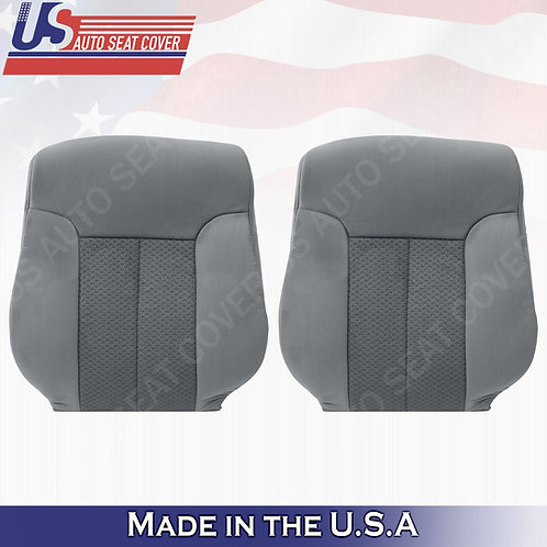 For 2011-2014 Ford F150 Driver & Passenger Top Cloth Seat Cover Steel Gray