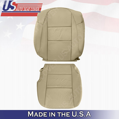 For 2013-2018 Acura RDX Driver Top/Bottom Perforated Leather Seat Cover Tan