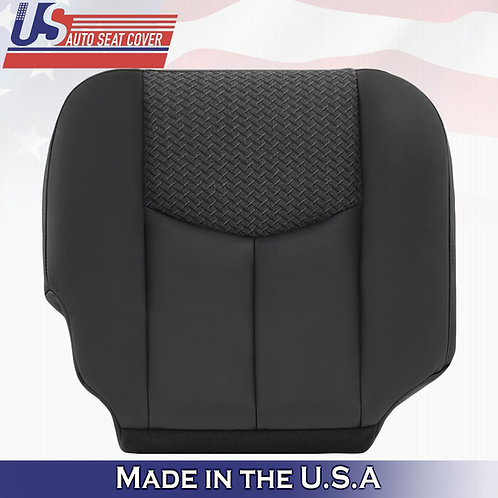 2003 2004 Chevy Avalanche Passenger Bottom Leather Seat Cover Dark Gray