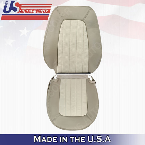 2002-2005 Mercury Mountaineer Driver Top & Bottom Perf. Leather Cover 2tone Tan