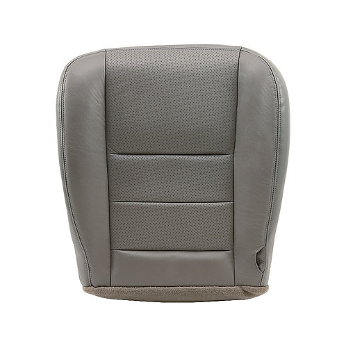 2002-2007 Ford F-250, 350 Driver bottom Perforated Leather Seat Cover Gray