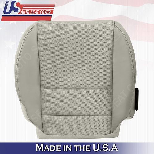 2007-2012 Acura MDX Passenger Bottom Perforated Leather Seat Cover color GRAY
