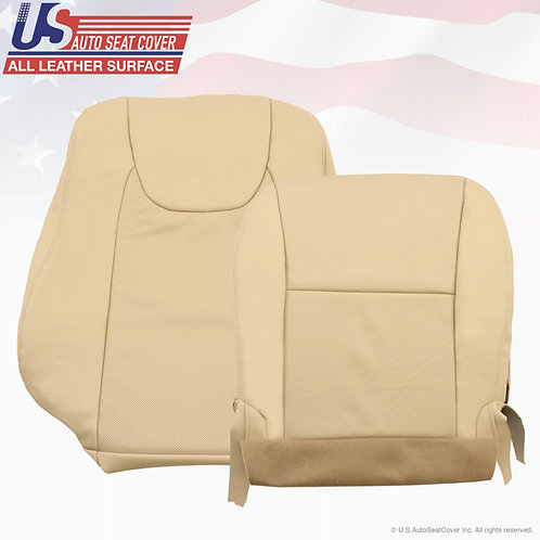 For 2010-2013 Lexus RX350 Driver Side Top/Bottom Perf.Leather Seat Covers in Tan