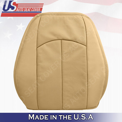 For 2007-2009 Mercedes-Benz E350 Passenger Top Perforated Leather Cover Dark Tan