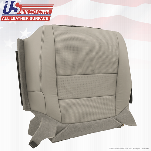 For 2004 - 2008 Acura TL Passenger Bottom perforated Leather Seat Cover Gray