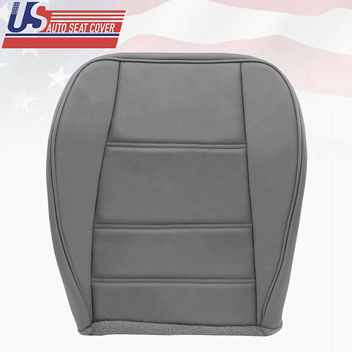 1999-2004 Ford Mustang V6 Passenger Side Bottom Leather Seat Cover Gray