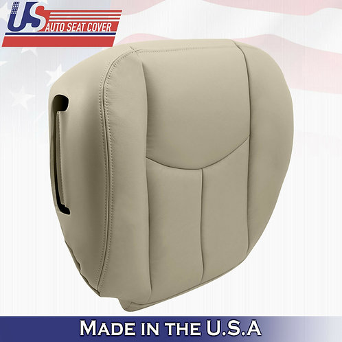 2003-2006 Chevy Tahoe Suburban Driver Bottom Leather Seat Cover Light Tan