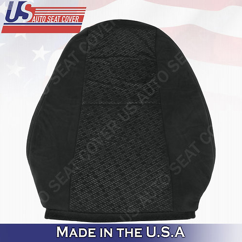2007 2008 Chevy Silverado Driver Top Cloth Seat Cover Black