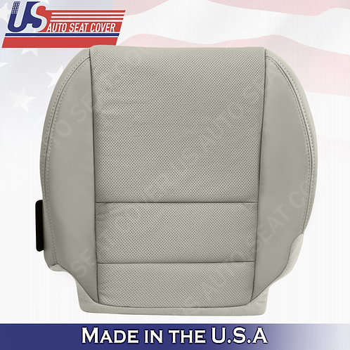 For 2007-2012 Acura MDX Driver Bottom Perforated Leather Seat Cover color GRAY
