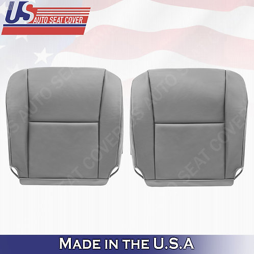 2005 2006 Toyota Tundra, Sequoia Driver/Passenger Bottom Leather Seat Cover Gray