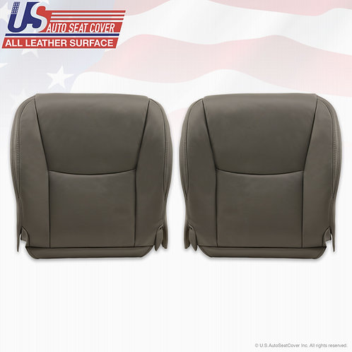 Front Bottom Leather Seat Cover Gray For 2003-2009 Lexus GX470