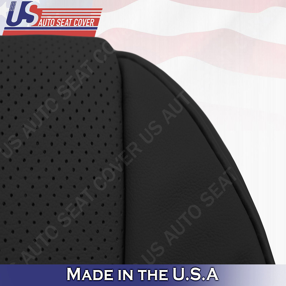 Driver Bottom Perforated Leather Seat Cover BLACK For 2007