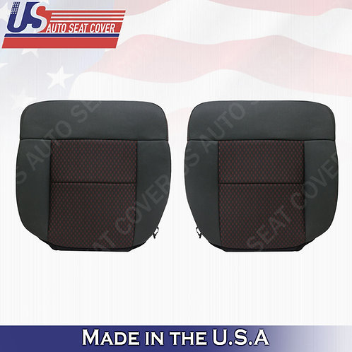 2007 2008 Ford F150 FX2 Driver & Passenger Bottom Cloth Seat Cover Black Red