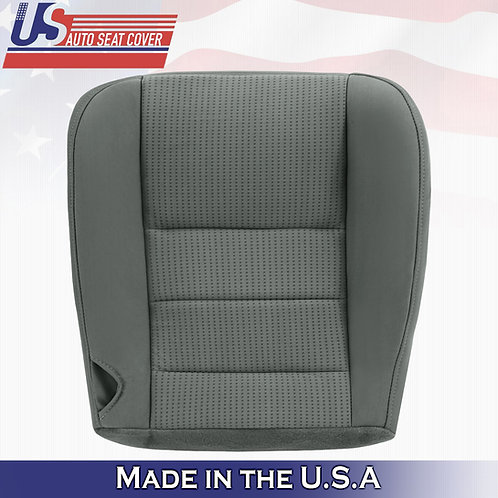 2008-2010 Ford F350 F450 XLT Passenger Bottom Cloth Seat Cover Med Stone Gray