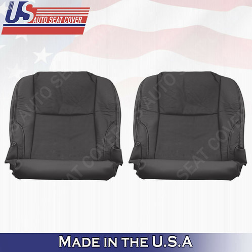 For 2006-2013 Lexus IS250 IS350 Driver Passenger Bottom Seat Cover Leather Black