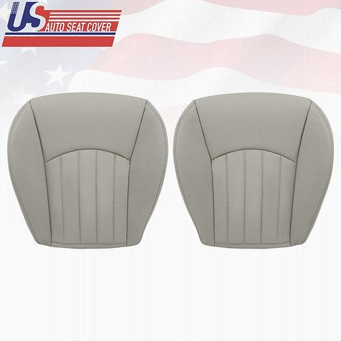 2002-2008 Jaguar X-Type Driver & Passenger Bottom Leather Seat Cover Gray