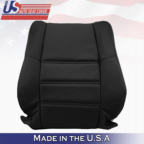2001-2004 Nissan Pathfinder Driver Lean Back Perforated BLACK Leather Cover