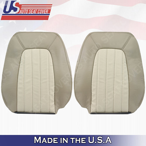 2002-2005 Mercury Mountaineer Driver Passenger Top Perf. Leather Cover 2tone tan