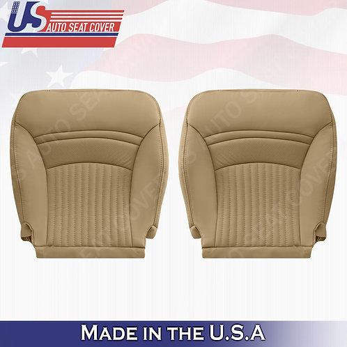 1997-2004 Chevorlet Corvette Driver Passenger Bottom Leather Seat Cover Tan