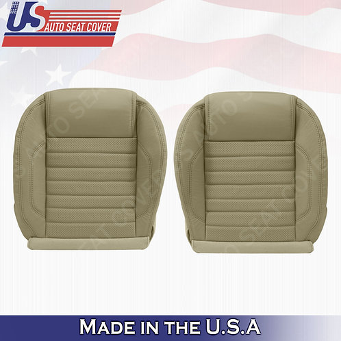 2010 to 2014 Ford Mustang GT Driver & Passenger Bottom Perf. Leather Cover Tan