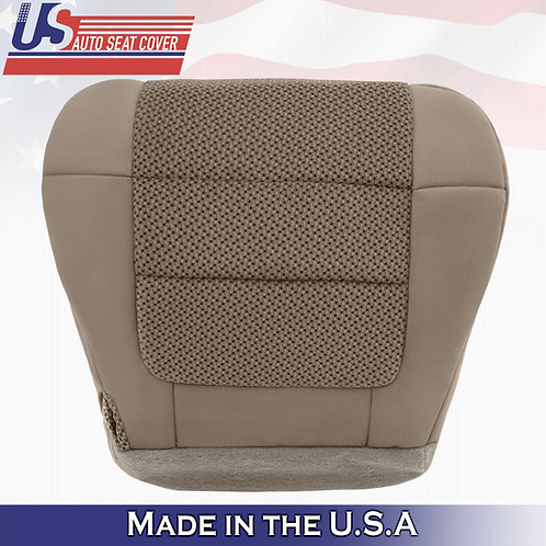 2001-2003 Ford F150 XLT PASSENGER Bottom Cloth Seat Cover Med Parchment Tan