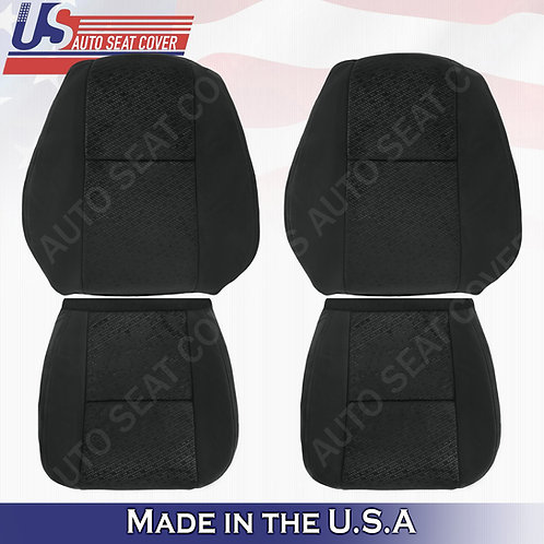 2007 2008 Chevy Silverado Driver Passenger Top/ Bottom Cloth Seat Cover Black