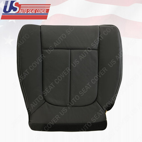 2009-2014 Ford F150 Lariat Passenger Bottom Leather Perforated Seat Cover Black