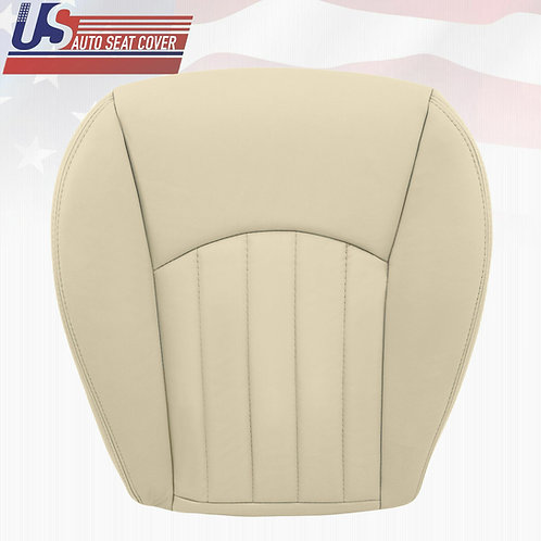 2002-2008 Jaguar X-Type Passenger Bottom Leather Seat Cover Light Tan