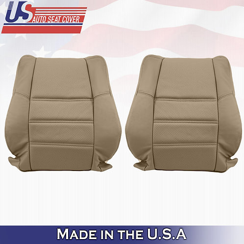 For 2001-2004 Nissan Pathfinder Lean Back PERFORATED LEATHER seat cover TAN