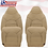 Thumbnail: 2000 Ford F350 Lariat Driver & Passenger Tops-Bottoms Leather Seat Cover TAN
