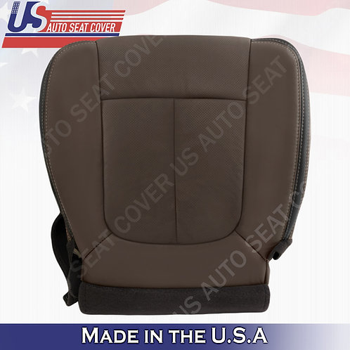 2013-2016 Ford F450 F550 Platinum Passenger Perforated Leather Seat Cover Brown