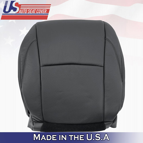 FITS 2007-2012 Lexus ES350 Perforated Leather PASSENGER BOTTOM Seat Cover Black