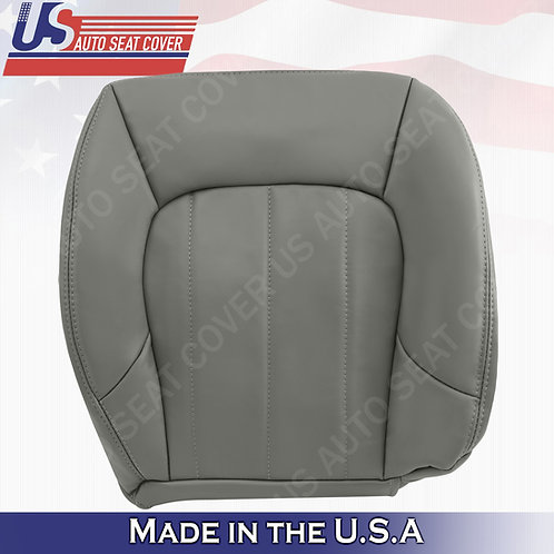 2002 to 2009 GMC Envoy XL Passenger Bottom Leather Seat Cover Gray