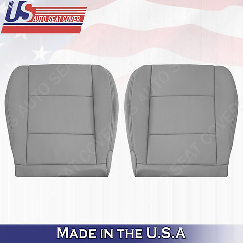 1998-2004 Toyota Land Cruiser Driver Passenger Bottom Leather Seat Cover in Gray