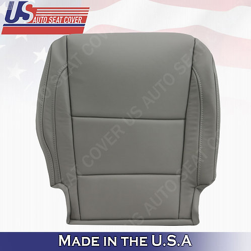 Fits 2014 - 2020 Acura MDX Passenger Bottom Leather Seat Cover Gray