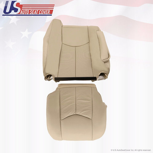 2003-2006 Cadillac Escalade Passenger Bottom & Lean Back Leather Seat Covers Tan