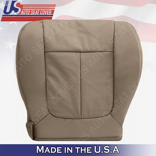 2009 2010 Ford F150 Lariat Passenger Bottom PERFORATED Leather Seat Cover Tan