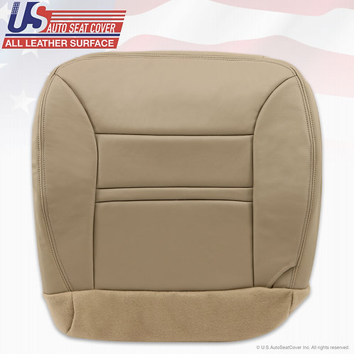 2000 Ford Excursion XLT Passenger Bottom Leather Seat Cover Replacement Tan