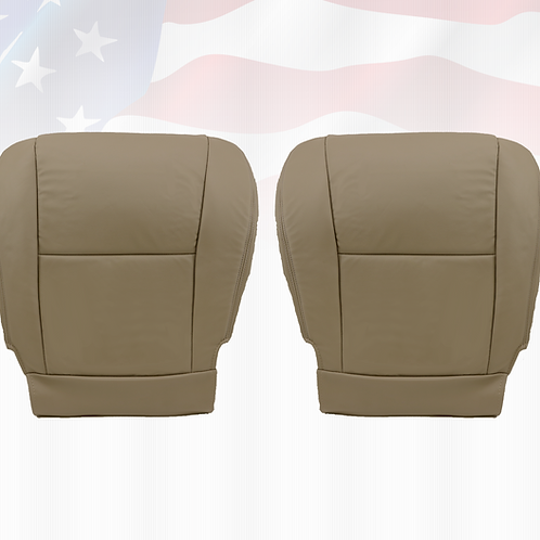 Fit 2005-2007 Toyota Sequoia Driver-Passenger Bottom Leather Seat Cover Tan