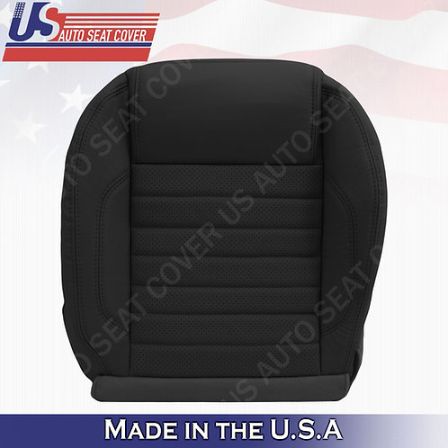 2010 to 2014 Ford Mustang GT Passenger Bottom Perforated Leather Sea Cover Black