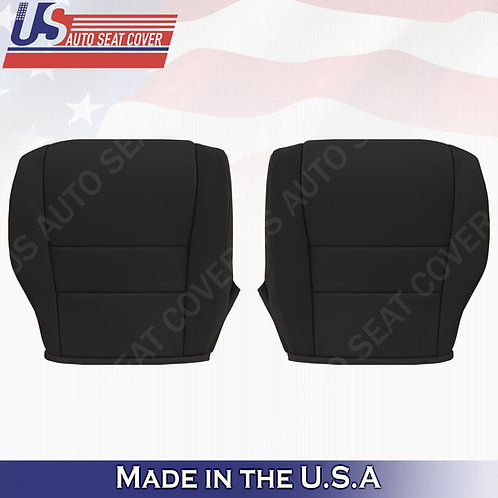 For 2007-2011 Honda CR-V Driver & Passenger Bottom Leather seat cover Black