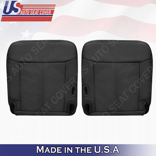 2003 - 2011 Lincoln Town Car Driver Passenger Bottom Leather seat cover Black