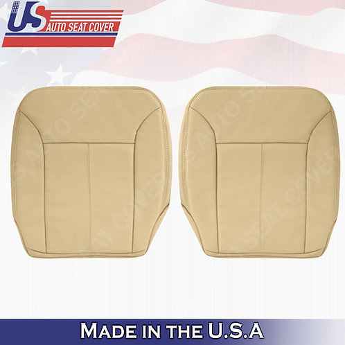 FOR 200-2012 Mercedes Benz GL320 Bottoms LEATHER Cover Tan W/ Stitching