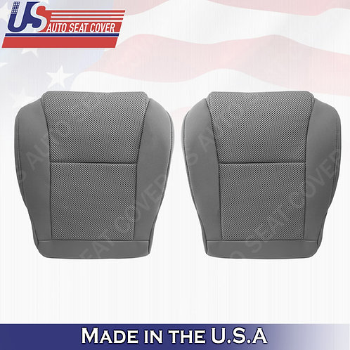 2005-2008 Toyota Tacoma DRIVER & PASSENGER Bottom Cloth Seat Cover Gray