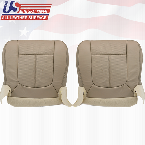 2013- 2016 Ford F250 Lariat Bottoms Perforated Leather Seat Cover Abode Tan