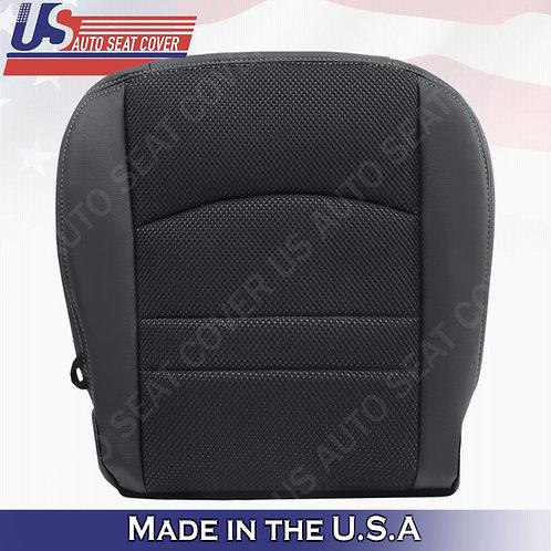 2013-2018 Dodge Ram 1500 Sport-Passenger Bottom Cloth/Leather Seat Cover Black