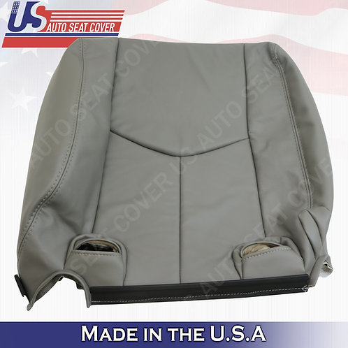 2003-2006 Chevy Tahoe Suburban REAR 40' Top Leather Seat Cover Gray