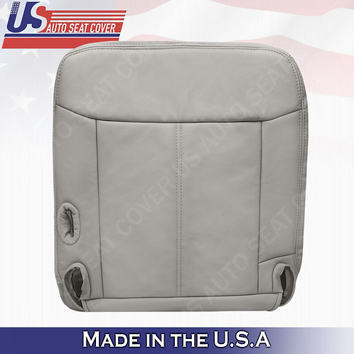 2003 - 2011 Lincoln Town Car Passenger Bottom Leather seat cover Gray